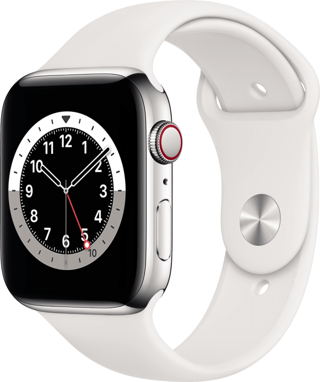 Weiß Apple Watch Series 6 GPS + Cellular , 40mm.1