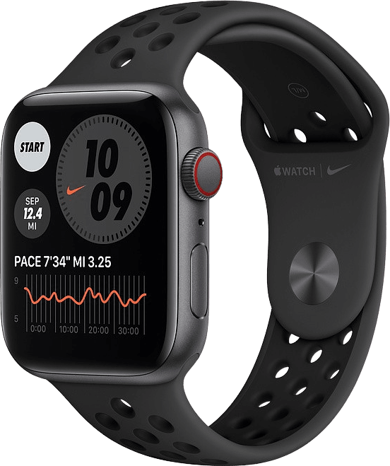 Anthracite/black Apple Watch Nike SE GPS + Cellular, 40mm Aluminium case, Sport band.1
