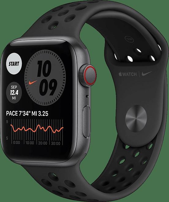 Anthrazit / schwarz Apple Watch Nike SE GPS+Cellular, 40 mm Aluminiumgehäuse, Sportarmband.1