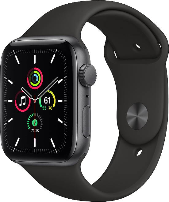 Schwarz Apple Watch SE GPS, 44mm.1