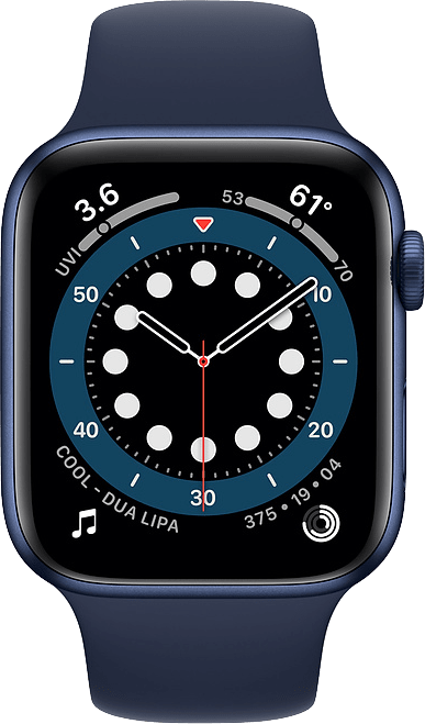 Dunkle Marine Apple Watch Serie 6 GPS, 40-mm-Aluminiumgehäuse, Sportarmband.2