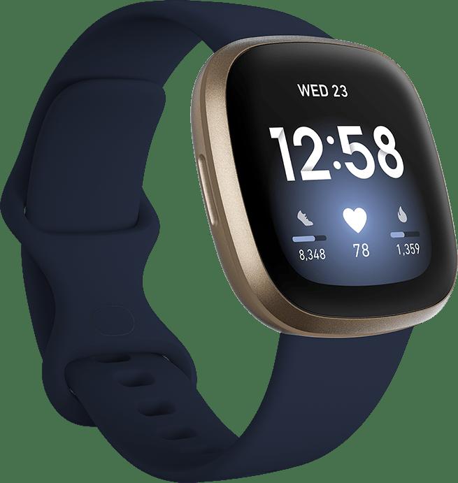 Midnight & Soft gold Fitbit Versa 3 Smartwatch.1