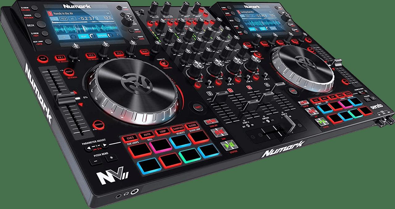 Black Numark NV II All in one DJ controller.3