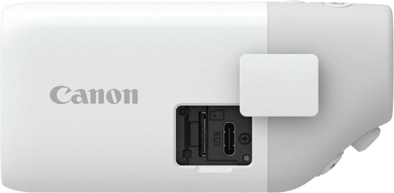 Weiß Canon Powershot Zoom.4