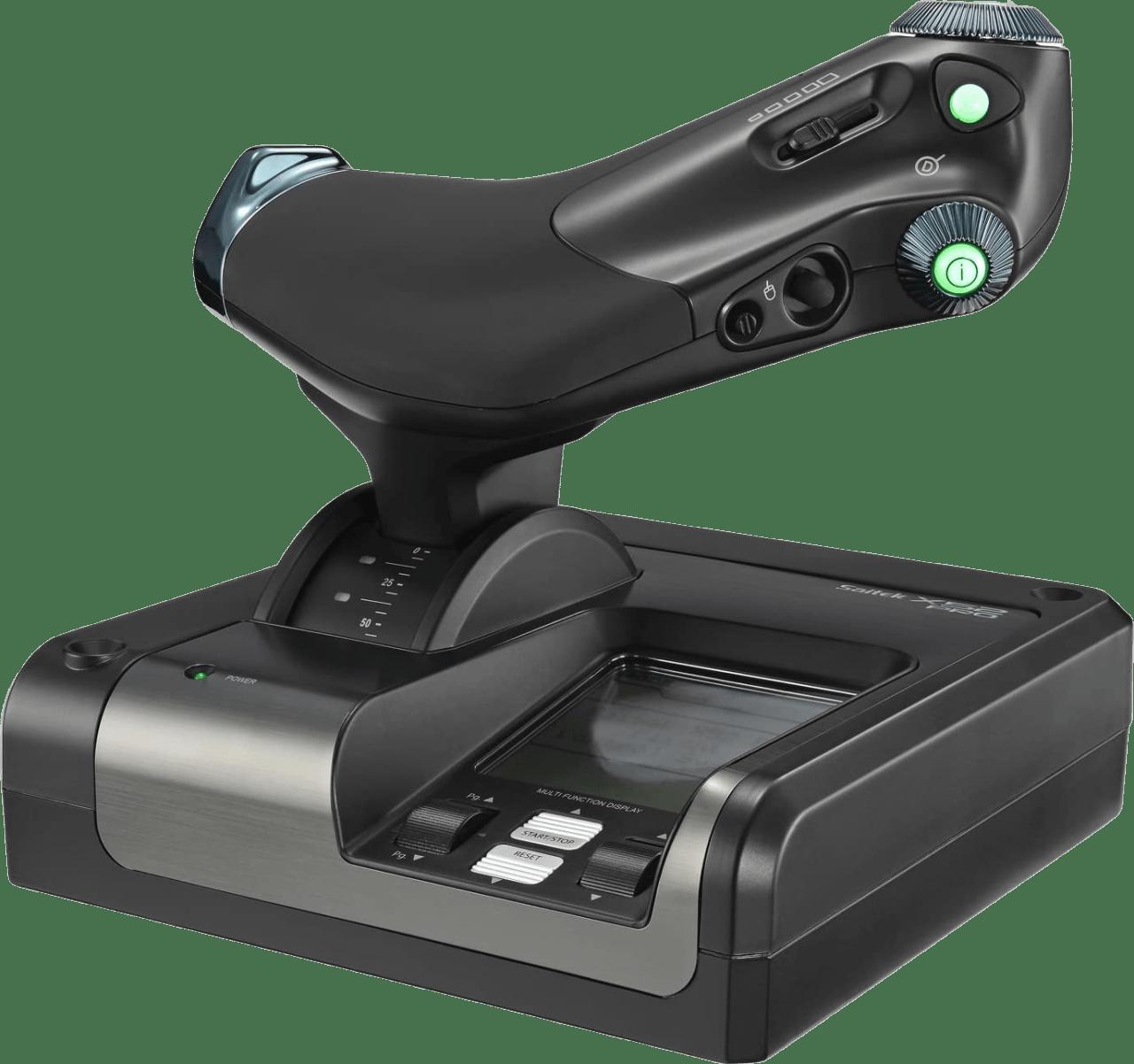 Negro Logitech Saitek X52 PRO Flight Simulator Controller.4