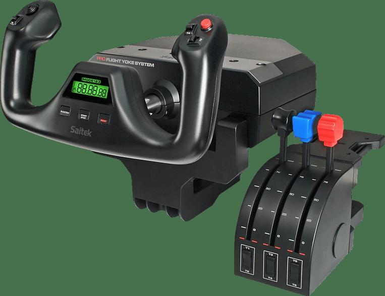 Black Logitech Saitek PRO Flight Yoke System Flight Simulator Controller.1