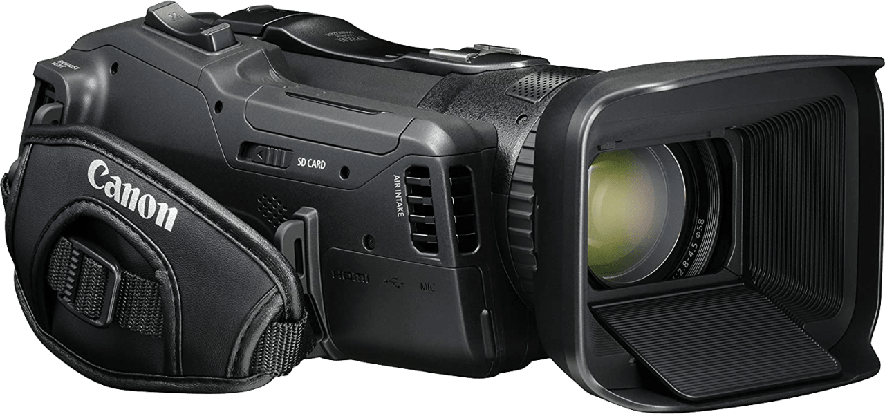 Zwart Canon Legria GX10 Professional Camcorder.4