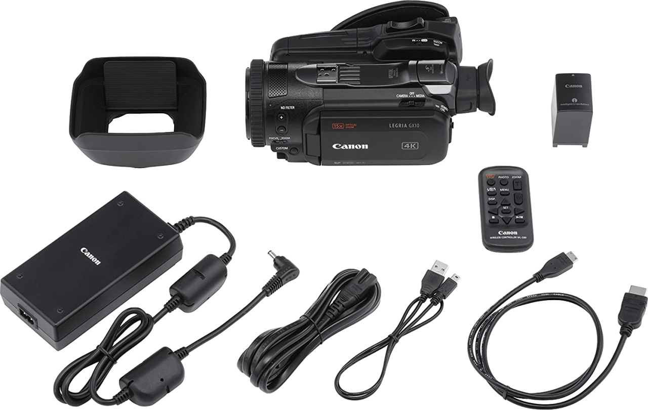 Zwart Canon Legria GX10 Professional Camcorder.5
