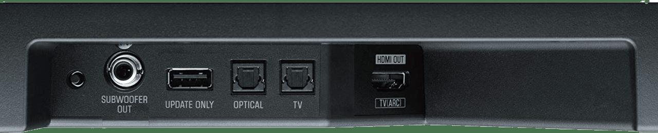 Black Yamaha SR-B20A Soundbar + Integrated Subwoofers.2