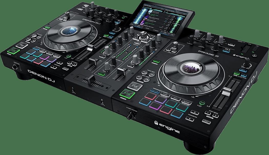 Schwarz Denon DJ Prime 2 All-in-One-DJ-Controller.1