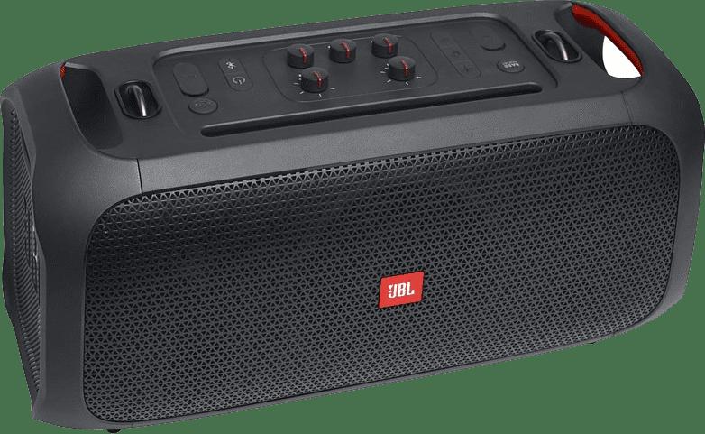 Schwarz Tragbarer Bluetooth-Lautsprecher JBL Partybox on the go.3