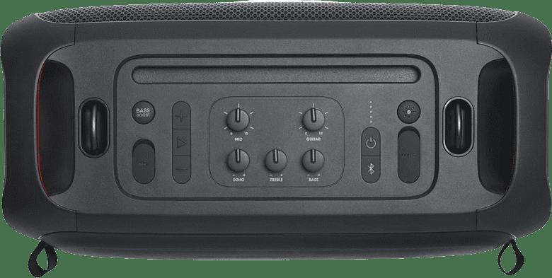 Schwarz Tragbarer Bluetooth-Lautsprecher JBL Partybox on the go.4