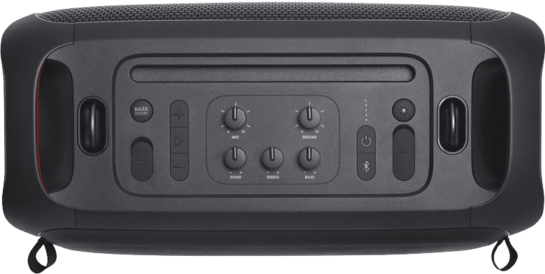 Black JBL Partybox on the go Portable Bluetooth Speaker.4