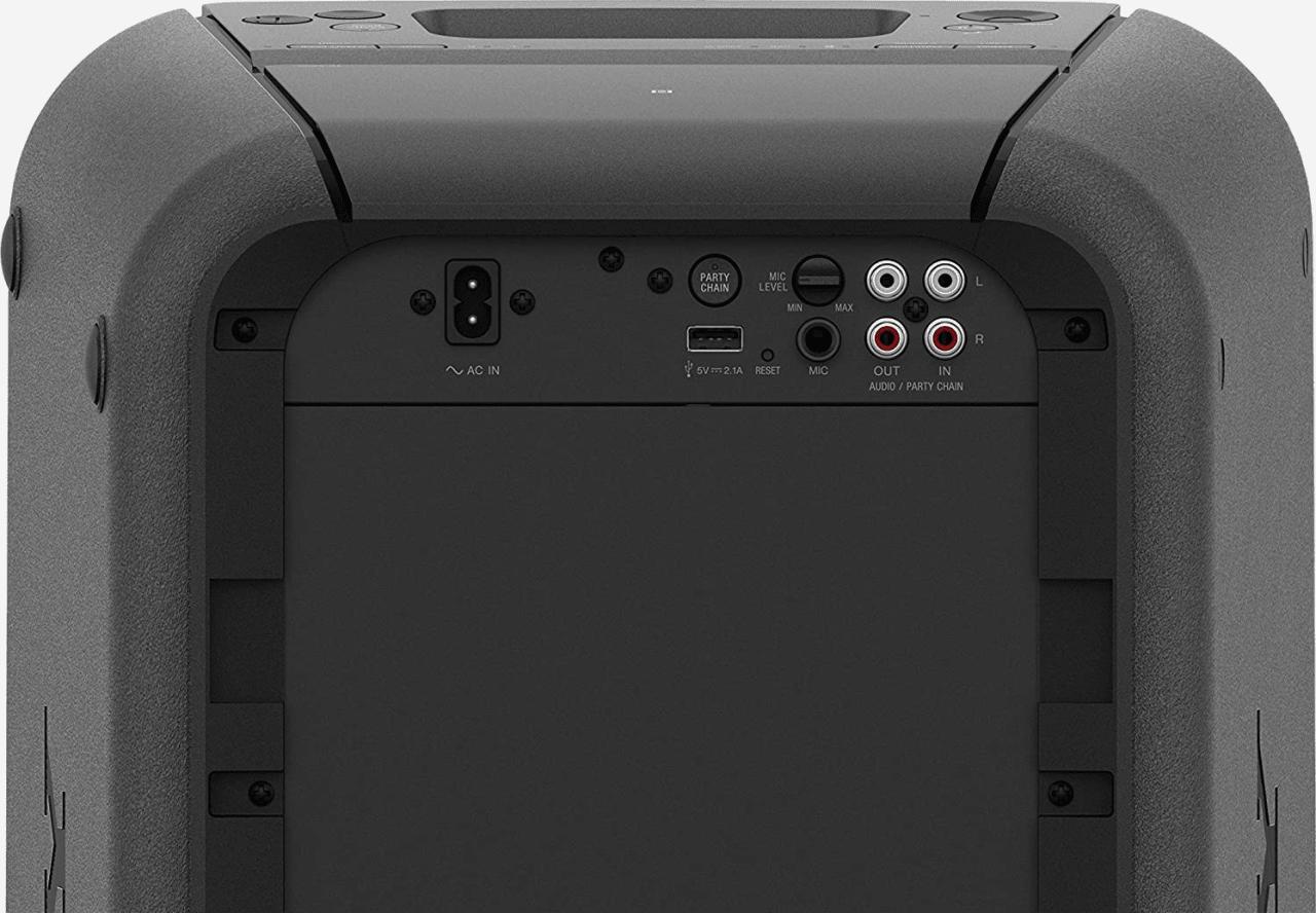 Schwarz Sony GTK-XB90 2.0 Partybox Party Bluetooth Speaker.4