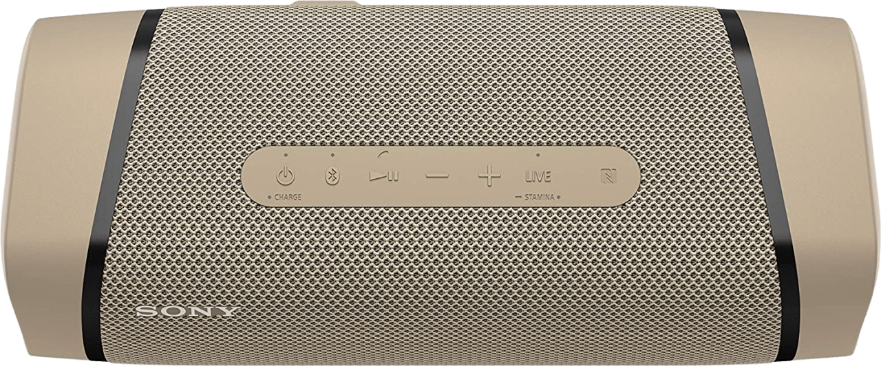 Beige Sony SRS-XB33 EXTRA BASS Portable Bluetooth Speaker.3