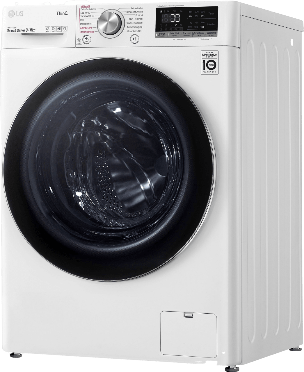 White LG Washer Dryer Combo V7WD96H1A.3