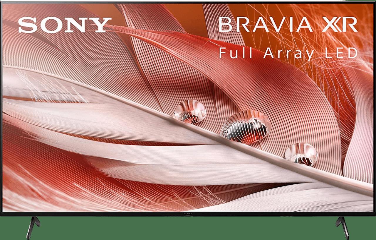 "Black Sony TV 55"" XR55X90J Bravia XR LED 4K UHD.1"