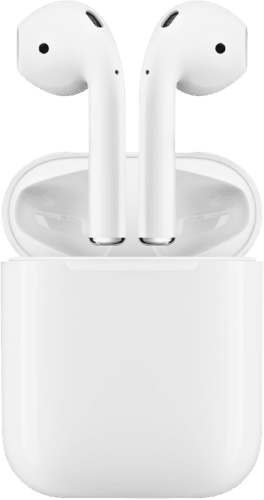 White Apple AirPods.1