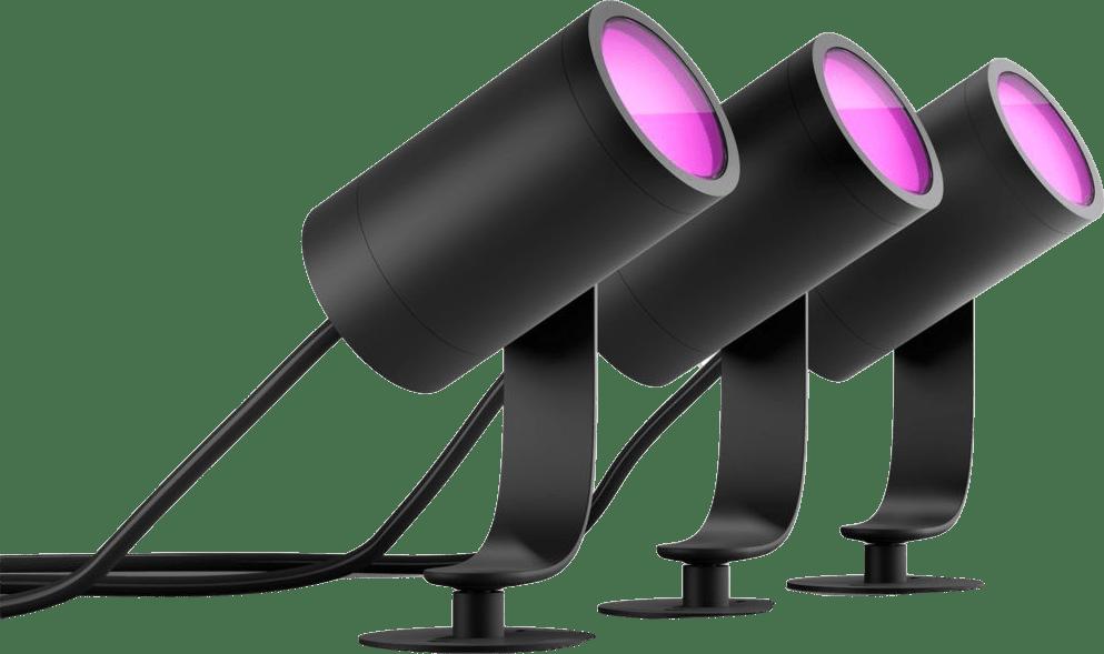 Black Philips Hue Lily 3-Piece Starter Set Outdoor Light.1