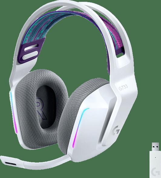 Weiß Logitech G733 Lightspeed Over-Ear Gaming-Kopfhörer.1