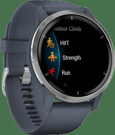 Granietblauw / Zilver Garmin Venu 2 Smartwatch, 45mm Fiber reinforced polymer case & sport band.3