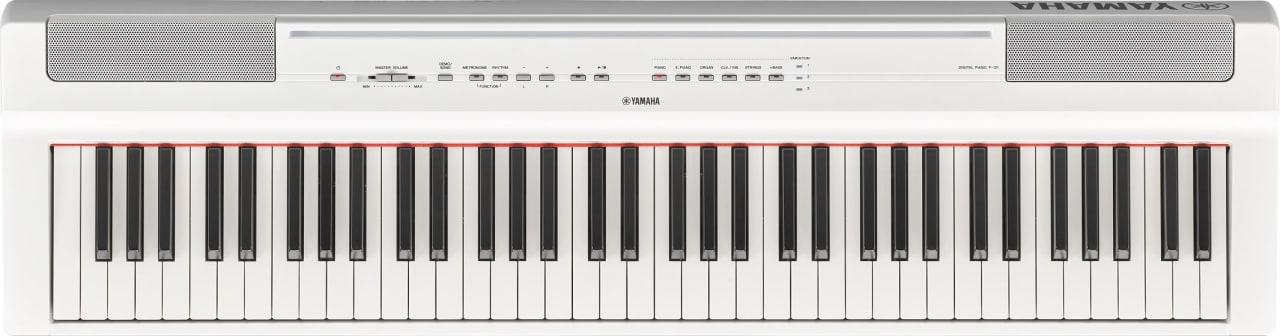 Weiß Yamaha P-121 Digitalpiano mit 73 Tasten.1