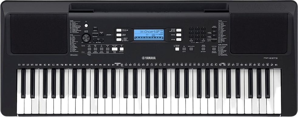 Black Yamaha PSR-E373 61-Key Portable Digital Piano.1