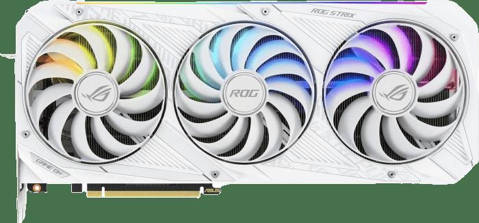 White Asus ROG Strix GeForce RTX 3080 OC Graphics Card.1