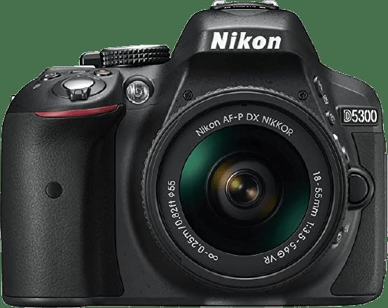 Black Nikon D5300 Camera Kit + AF-P 18-55mm VR lens.1