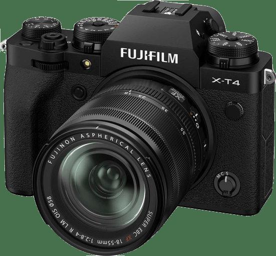 Black Fujifilm X-T4 System Camera + Lens (XF 18-55mm) Kit.1