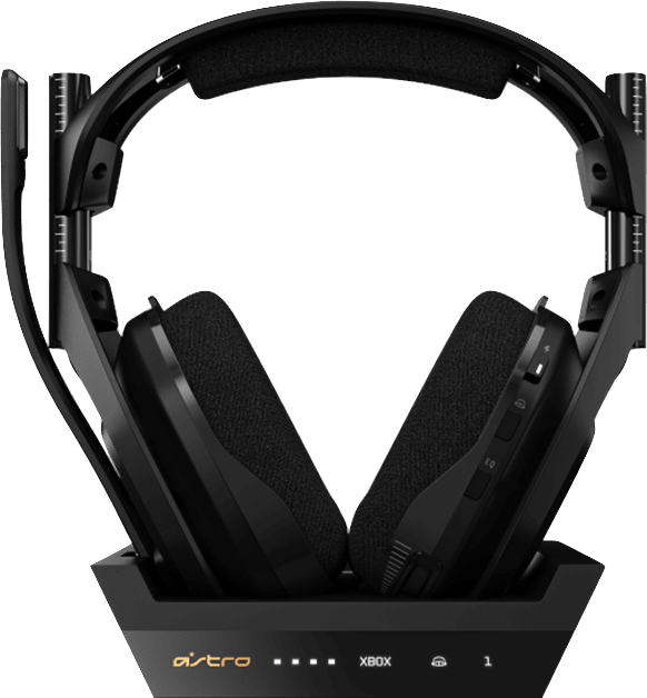 Black ASTRO Gaming A50 Wireless Headphones + Base Station, Gen 4.2