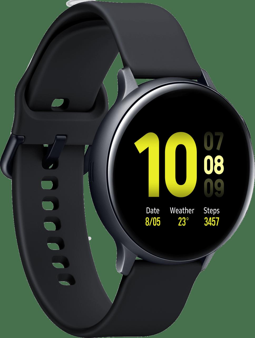 Aqua Black Samsung Galaxy Watch Active2, 44mm Aluminium case, Sport band.2