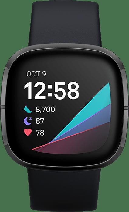 Carbon & Graphite Fitbit Sense Smartwatch.2