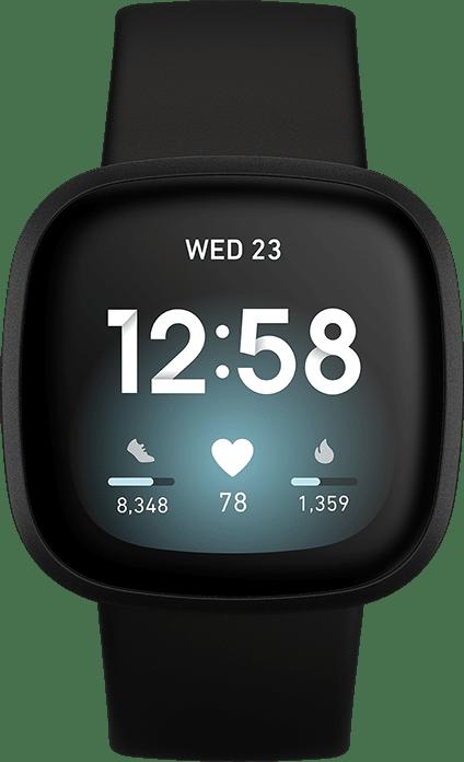 Black Fitbit Versa 3 Smartwatch.2