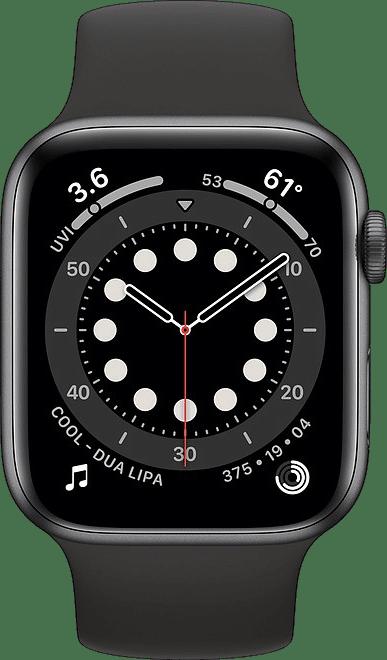 Black Apple Watch Series 6 GPS + Cellular , 40mm Aluminium case, Sport band.2