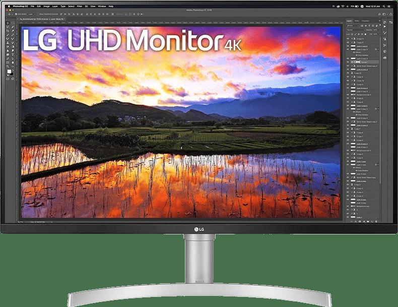 """Silver / White LG - 32"""" Ultra HD 4K 32UN650.1"""