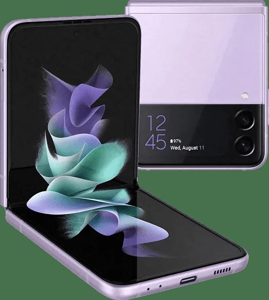 Lavender Samsung Smartphone Galaxy Flip 3 - 128GB - Single Sim.1