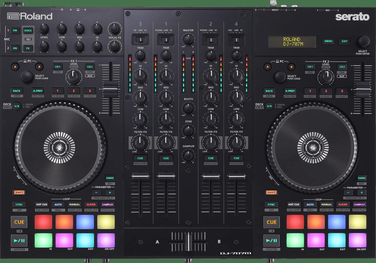 Black Roland DJ-707M DJ-controller.1