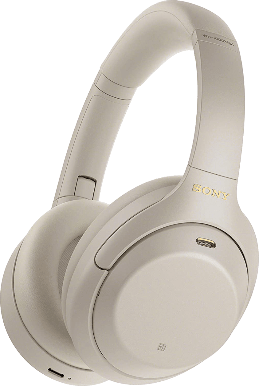 Silver Sony WH-1000 XM4 Over-ear Bluetooth Headphones.1
