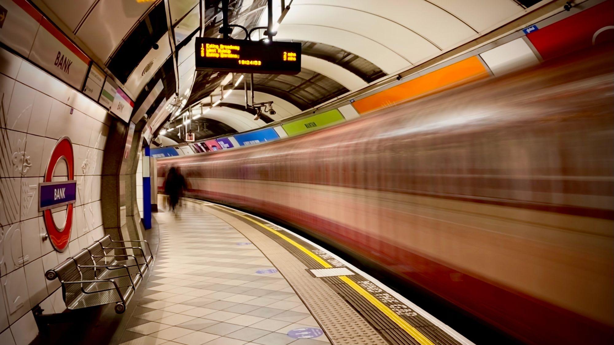 Tube train motion blur