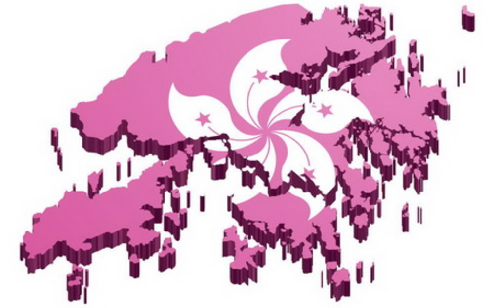 Helping to turn Hong Kong pink!