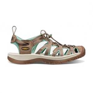 Keen Womens Whisper Walking Sandals - Shitake/Malachite