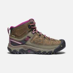 Keen Womens Targhee III Mid Waterproof Walking Boots - Weiss/Boysenberry
