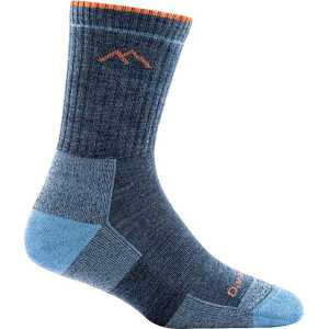 Darn Tough 1903 Womens Merino Wool Micro Crew Cushion Socks - Denim
