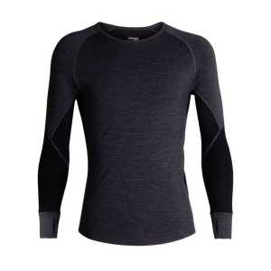 Icebreaker BodyFitZone 260 Zone Long Sleeve Crewe - Jet Heather/Black/Mineral