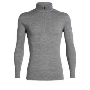 Icebreaker 260 Tech Long Sleeve Half Zip - Gritstone Heather