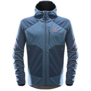 Haglofs Mens Softshell Multi WS Hood Jacket - Blue Ink/Tarn Blue