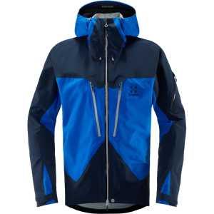 Haglofs Mens Spitz Gore-Tex Wateproof Jacket - Storm Blue/Tarn Blue