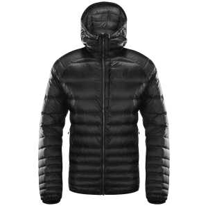 Haglofs Men's Essens Down Hooded Jacket - True Black/Magnetite