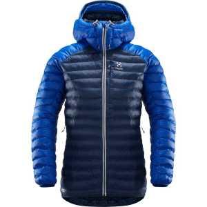 Haglofs Womens Essens Mimic Hooded Insulated Jacket - Tarn Blue/Cobalt Blue